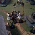 Crusaders Surround the Orc Leader